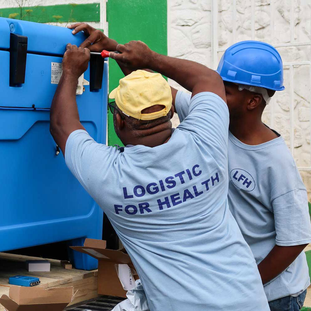 Solar-powered fridges being delivered to the health centre in Kenscoff, near Port-au-Prince, Haiti. Credit: Gavi/2017/Frederique Tissandier