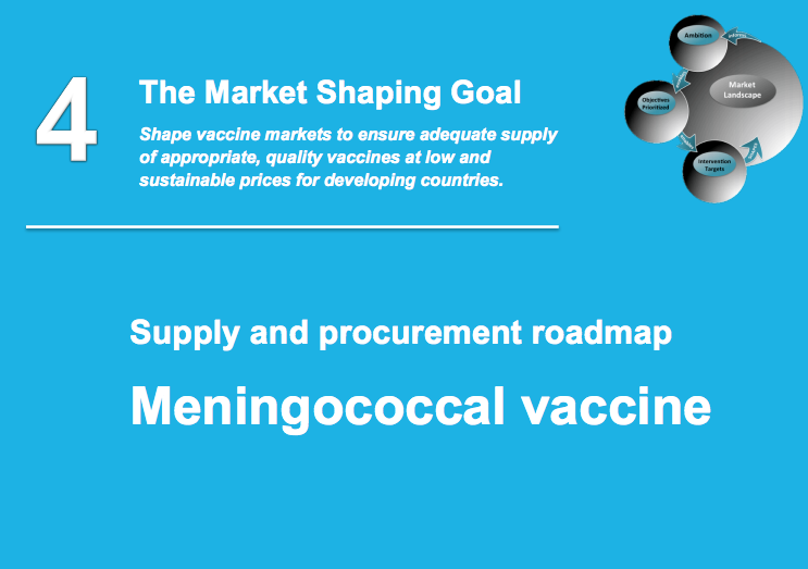 Meningococcal vaccine roadmap