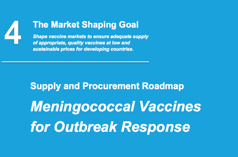 Meningococcal vaccines for outbreak response roadmap