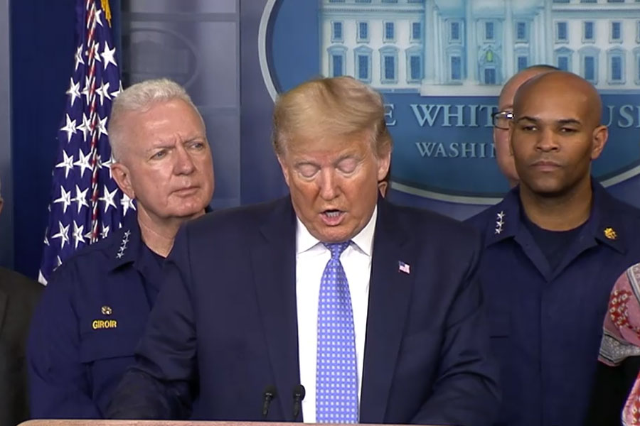 Image from ABC news article – President Trump speaks at COVID-19 briefing The White House task force gives an update on the coronavirus epidemic