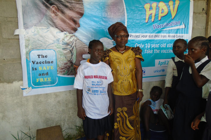 Both Bong and Nimba have low school attendance rates so Liberia's project will draw on the support of community leaders to identify girls who risk missing out on the HPV vaccine because they do not go to class.
