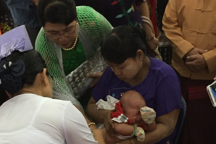 Myanmar is the 57th country to introduce the pneumococcal vaccine through Gavi's Advance Market Commitment. With funding from Italy, UK, Canada, the Russian Federation, Norway and the Bill & Melinda Gates Foundation, it is expected to prevent more than 1 million child deaths by 2020.