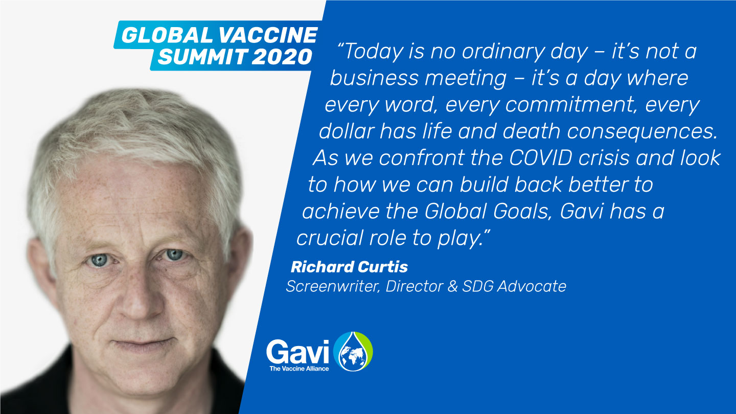 Richard Curtis, Screenwriter, Director & SDG Advocate