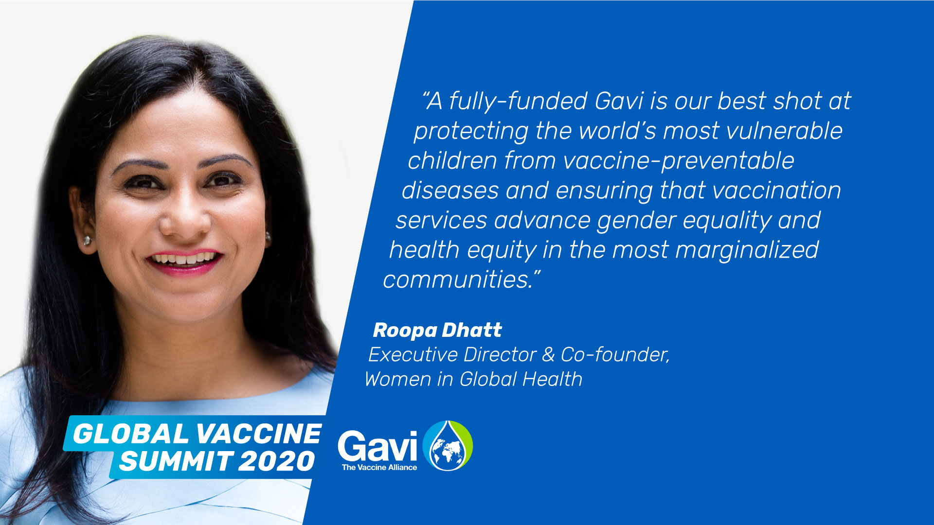 Roopa Dhatt, Executive Director & Co-founder, Women in Global Health