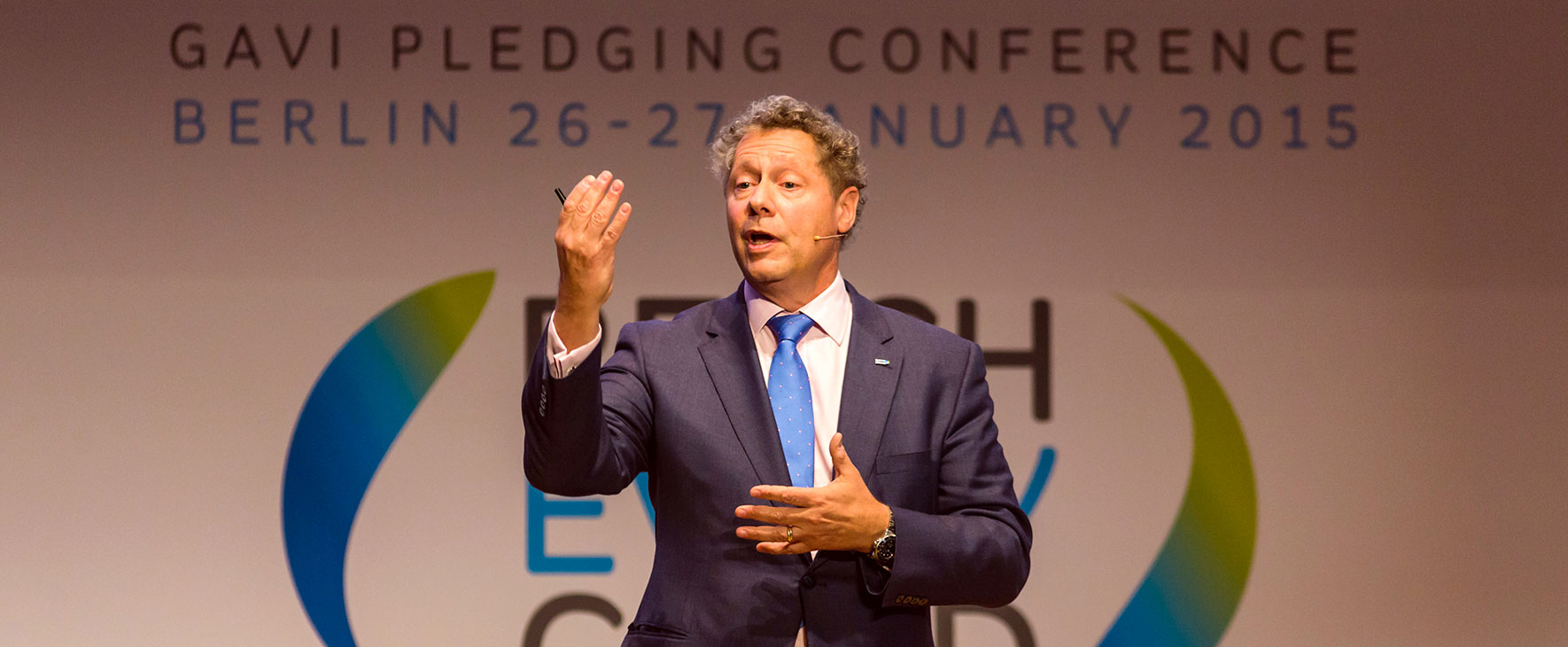 Seth Berkley at the 2015 Gavi pledging conference. Credit: Gavi/2015/Stefan Zeits.