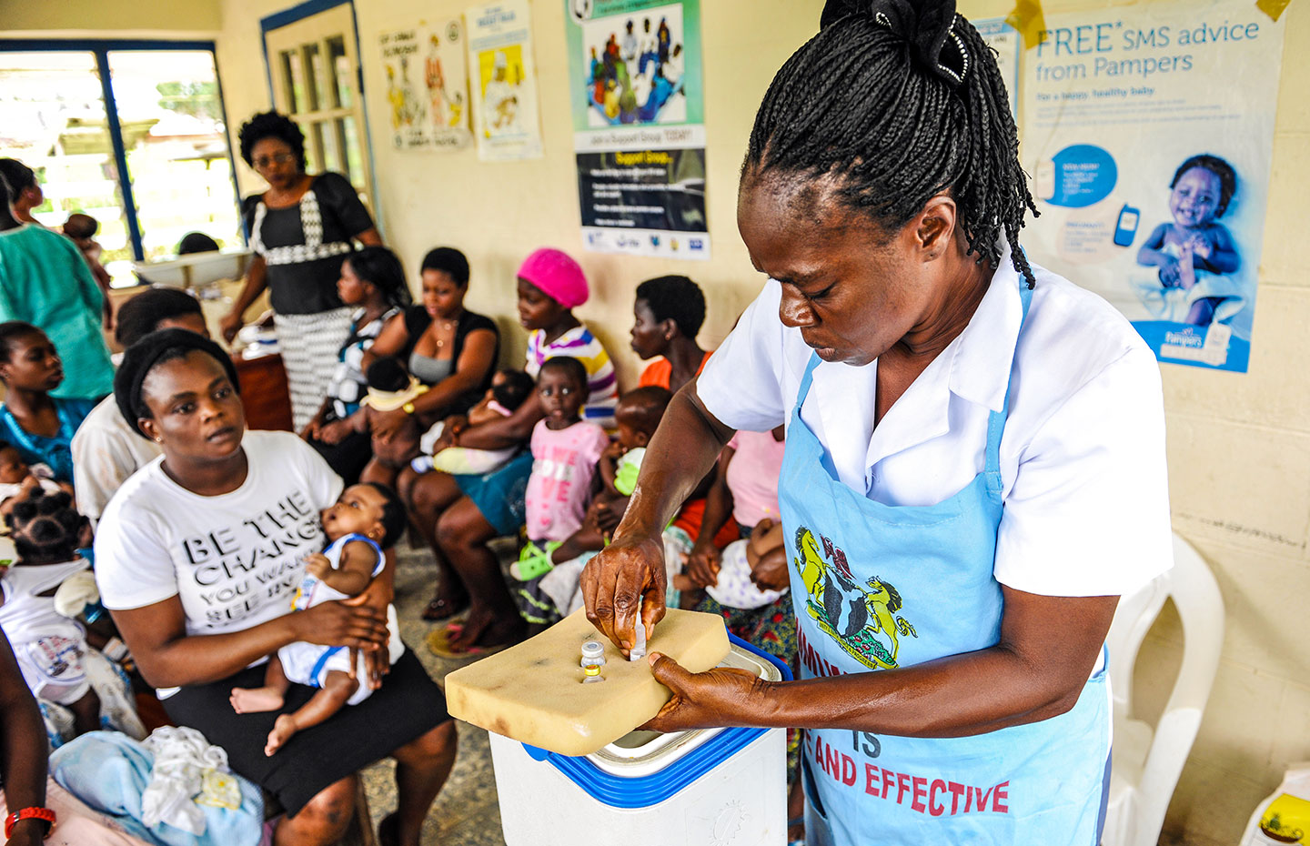 The introduction of the pentavalent vaccine in Nigeria. Credit: Gavi/2013/Adrian Brooks