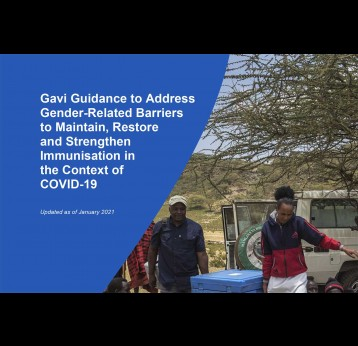 Gavi Guidance to address gender barriers in MRS immunisation