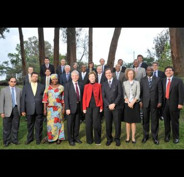 GAVI Board members in Kigali