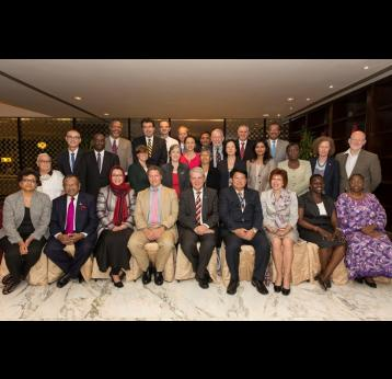 GAVI Board members in Dar es Salaam. Source: GAVI/2012/Rob Beechey.