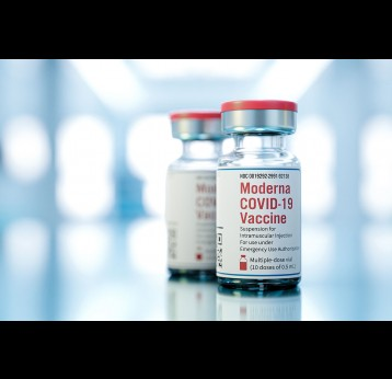 Moderna Inc mRNA type COVID-19 vaccine.