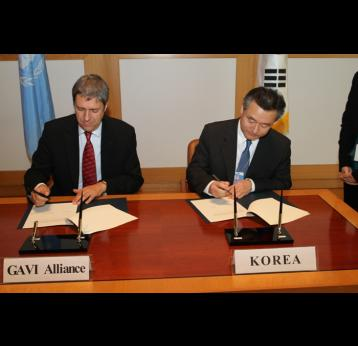 GAVI Alliance welcomes Korean contribution