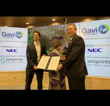 Gavi, NEC, and Simprints to deploy world's first scalable child fingerprint identification solution to boost immunisation in developing countries