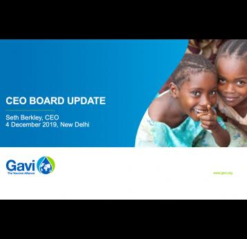 CEO Board update, 4 December 2019