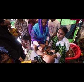 Rising to the challenge of vaccinating refugees in Bangladesh