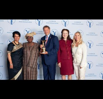 Credit: Ellen Jaffe_Gavi Leadership receives 2019 Lasker~Bloomberg Public service Award