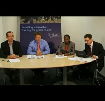 GAVI press conference following announcement of vaccine funding for 37 more countries