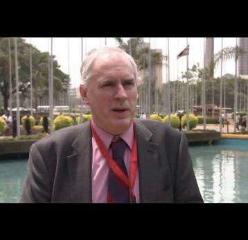 Interview with Simon Bland, DFID, during the Kenya pneumococcal launch