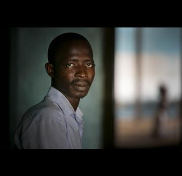 Mohammed Conteh, student and Ebola vaccine trial participant
