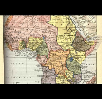 French map of Africa – 1989