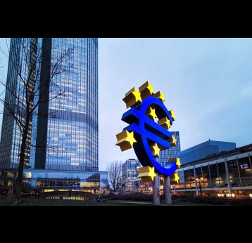 European Central Bank (ECB) is the central bank for the euro and administers the monetary policy of the Eurozone in Frankfurt, Germany.