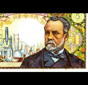 Louis Pasteur portrait – 5 French banknotes 1966