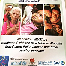 Social mobilisation campaign for inactivated polio and measles-rubella vaccine in Papua New Guinea