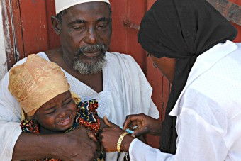 Nigerian child receives IPV