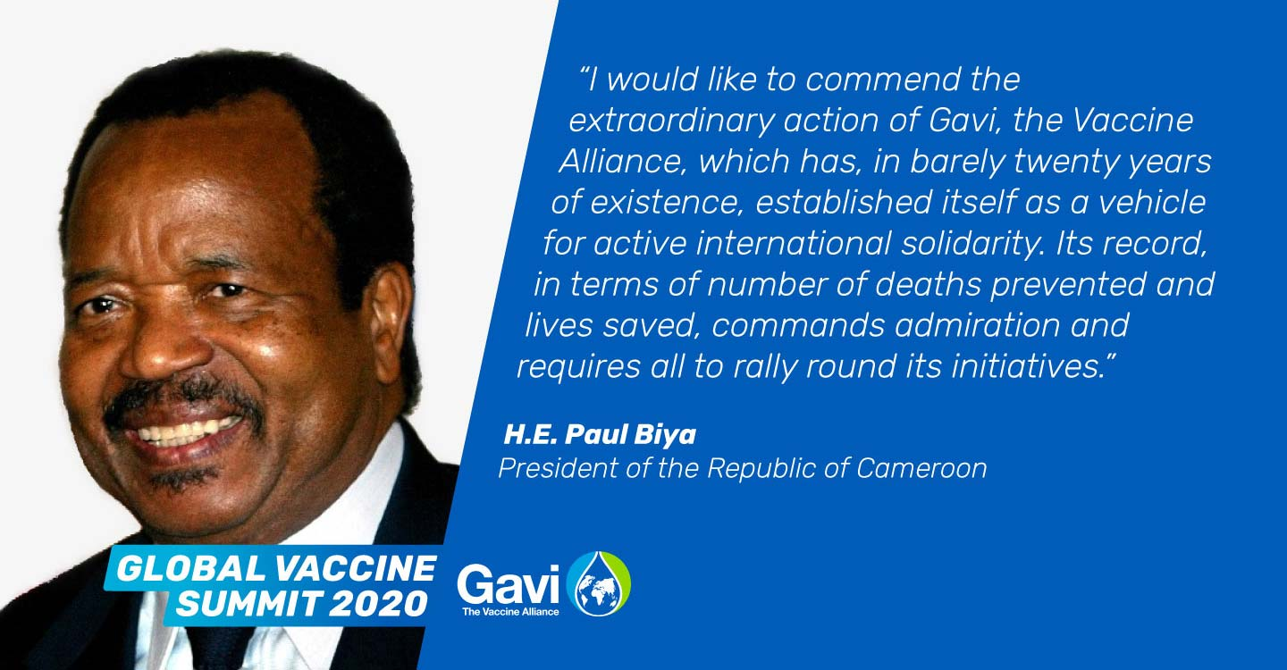 Paul Biya's statement of support