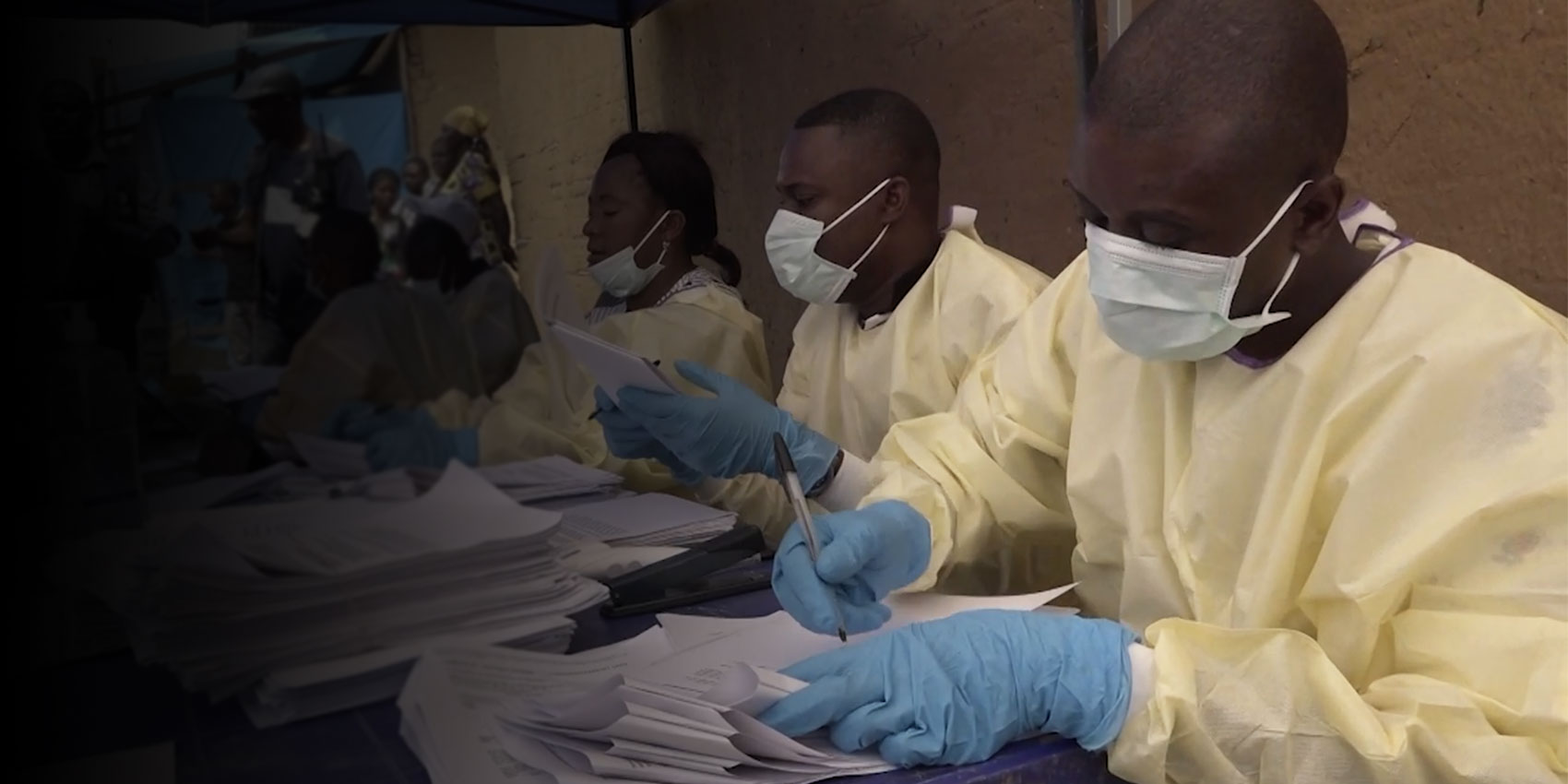 Photo taken from B-roll Ebola Vaccination in DR Congo (WHO footage)