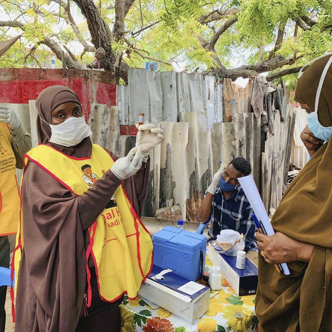 First day of campaign in Benadir, Mogadishu, Somalia This is a measles campaign that has been integrated with OPV, Vitamin A and Albendazole(de-worming).